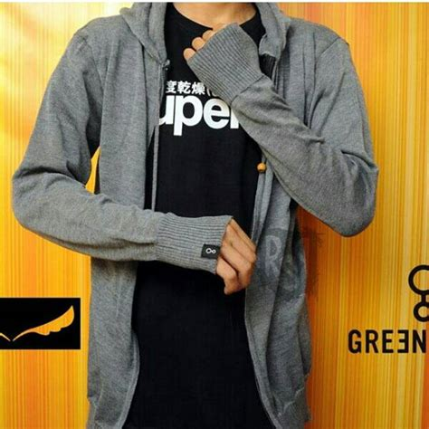 jual sweater greenlight rajut ariel jaket fleece hoodie