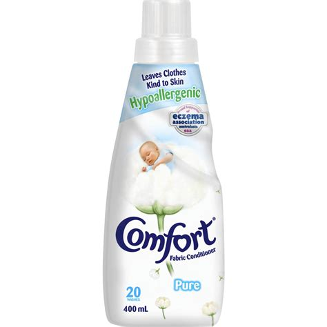 fabric softener comfort comfort fabric softener pure white 400ml woolworths