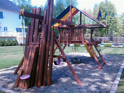 playground swing parts to rehab a redwood swing set all about the house