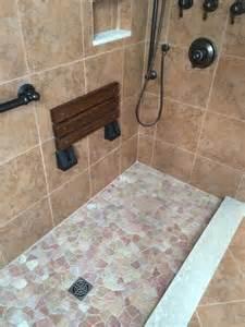 shower tile base kit island pebble shower floor porcelain wall tile