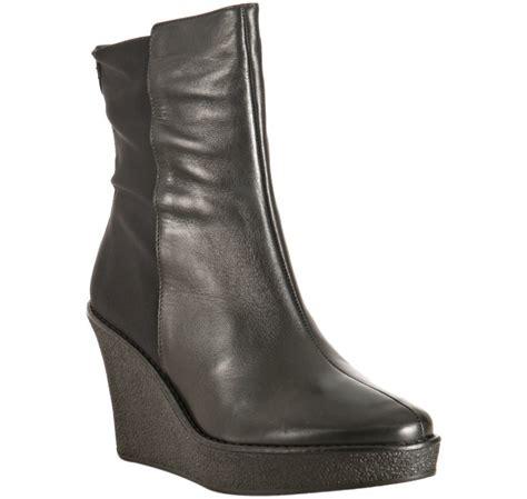 donald j pliner black leather and elastic tikle wedge
