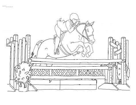coloring pages of horses jumping coloring pages kids