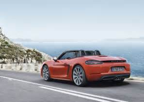 Porsch Boxter Porsche 718 Boxster Revealed With New Turbo D 4 Cylinder