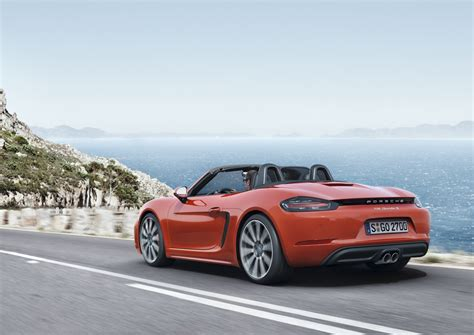 porsche boxster porsche 718 boxster revealed with turbo d 4 cylinder