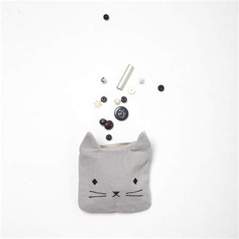 Animal Coin Pouch leo fabelab animal coin pouch cat grey