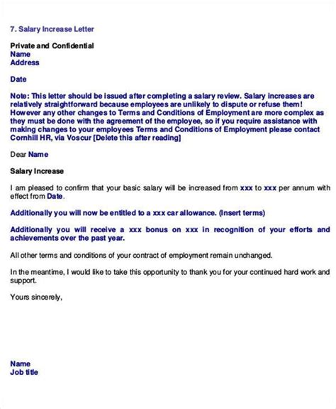 change of career cover letter exles salary increase template employee promotion