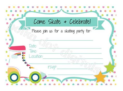roller skating invitation template the gallery for gt roller skating invitation template