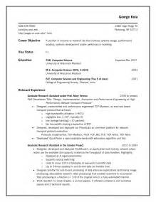 Sle Resume Computer Science by Associates Degree In Computer Science Resume Sales
