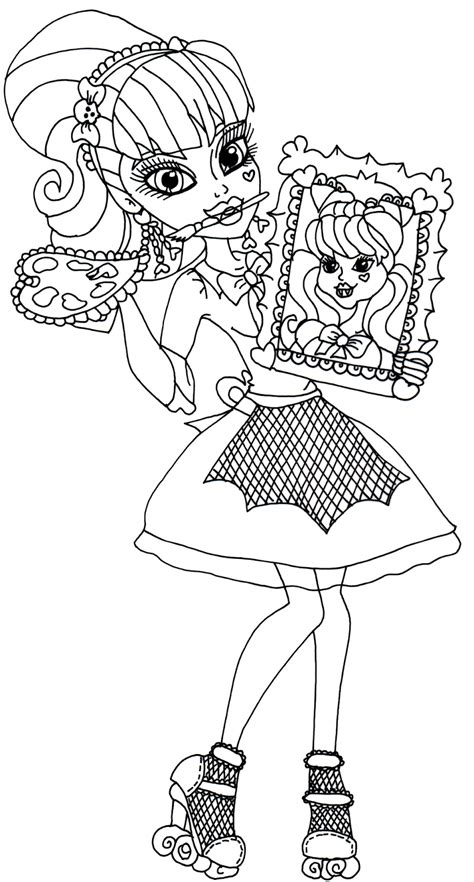 monster high faces coloring pages free coloring pages of face draculaura