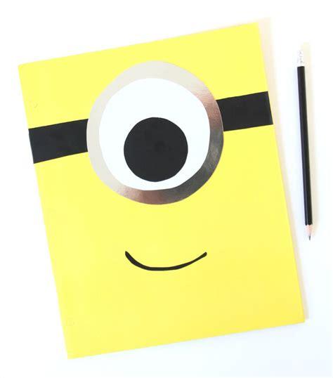 How To Make A Paper Folder For School - diy make a mod minion folder for school fandango