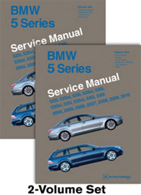 2004 2010 bmw 5 series factory bentley service repair manual 2 vol set