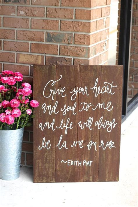 Wedding Keepsake Quotes by Quotes Sayings On Rustic Sign Just B Cause
