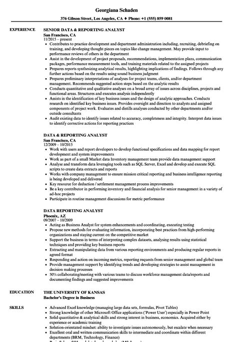 Reporting Analyst Description by Data Reporting Analyst Description How Create Education Best Resume Templates