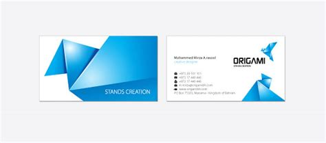Origami Card Designs - origami business card design corporate identity 3