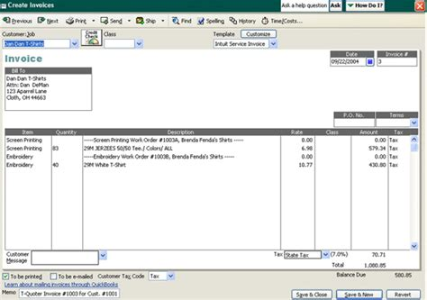 Custom Quickbooks Invoice Templates