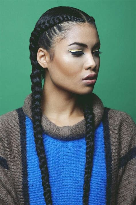 hairstyles two braids goddess braids protective hairstyles pinterest