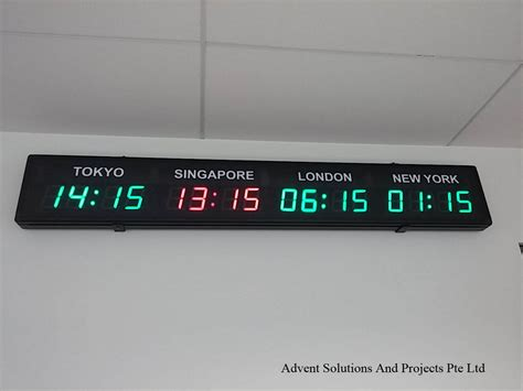 Led Digital led digital clocks displays advent solutions and projects