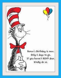 wedding reminder card template cat in the hat themed 1st birthday rsvp reminder dr