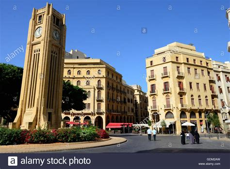 beirut lebanon shopping centre mall stock photo lebanon beirut s nejmeh square is the heart of the city