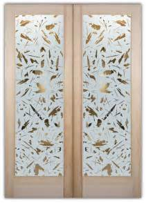 Double Entry Doors With Spatter Glass Design Sans Soucie