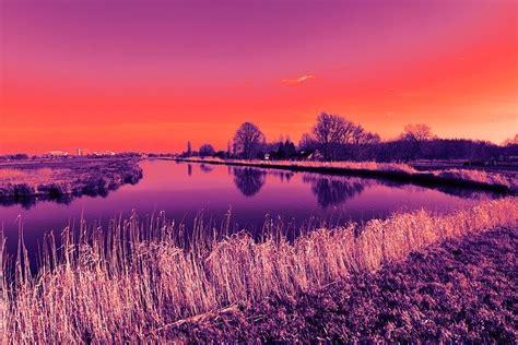 landscape dutch waterway  photo  pixabay