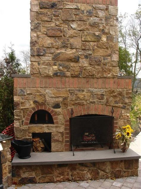 Oven Fireplace by And Brick Combo Outdoor Fireplaces Fireplaces