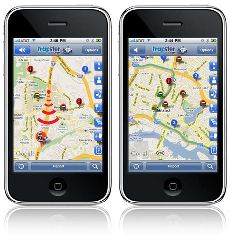 trapster app for android trapster for iphone hits 4 0 android and webos updates on the way
