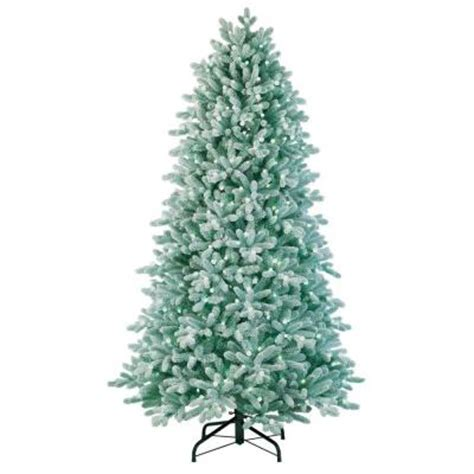 ge norway spruce 6 ft ge 7 ft led just cut frosted spruce tree with white lights 20702hd shopping