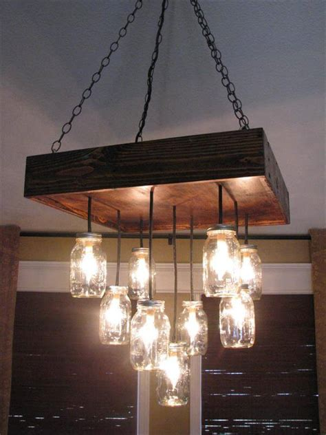 Playhouse Chandelier Diy Pallet Mason Jars Chandelier 101 Pallets