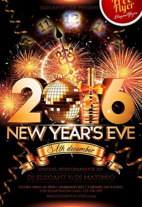Download The Best Free New Year Flyer Psd Templates For Photoshop New Years Flyer Template
