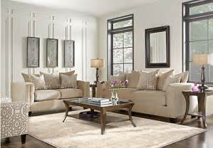 cindy crawford home sidney road taupe 7 pc living room