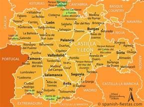 Leon Spain Map by Castilla Y Le 243 N Travel Guide Spanish Fiestas