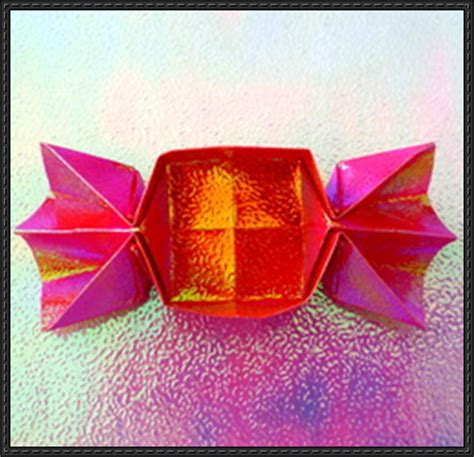 Origami Chocolate Box - new paper craft how to fold an origami box on