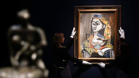 picasso paintings recent sales pablo picasso s femme jacqueline au costume turc dans un