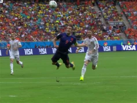 Persie Goal robin persie s header is the best goal of the world