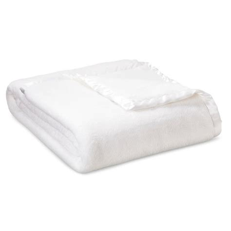 solid bed blanket twin white simply shabby chic target
