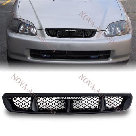 Front Sport Grille Honda New Civic 96 98 honda civic 2 3 4dr mugen black front mesh sport abs grille grill new ebay