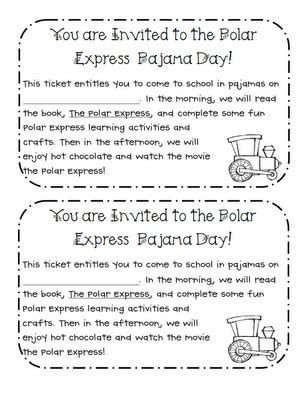 printable polar express tickets kindergarten learning with a happy heart polar express pajama day