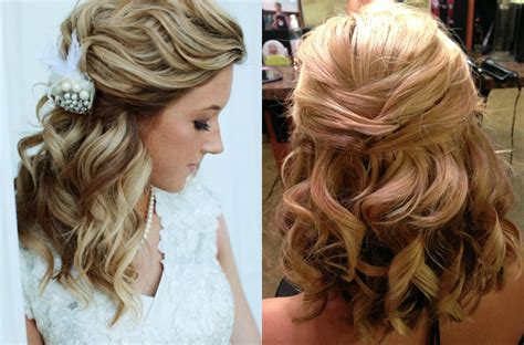 wedding hairstyles half up half down for short hair classy choice of half up and half down wedding hairstyles