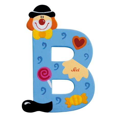 Wooden Letters Home Decor by Sevi Letter Quot B Quot Clown Www Cutekidstuff Com