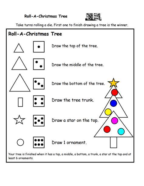printable dice christmas game roll a christmas tree printable game a to z teacher