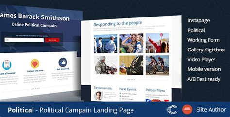 Political Caign Instapage Template Theme88 Com Free Premium Nulled Cracked Themes Free Instapage Templates