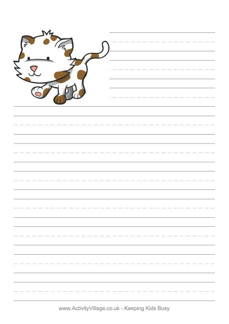 lined paper with cat border ngd n 250 cleo goiano de decora 231 227 o 6th grade research paper