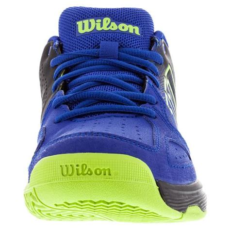 Dijamin Black Kaos Blue tennis express wilson juniors kaos comp tennis shoes