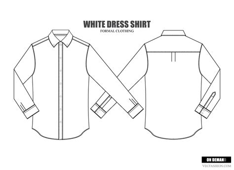 men dress shirt vector template illustrations on