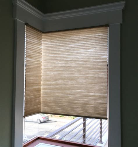 corner window treatments hermosa corner window cellular shades style