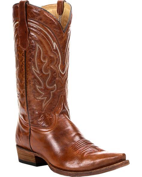 mens toe cowboy boots circle g s whip stitch cowboy boots snip toe