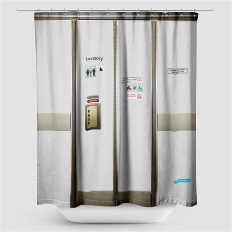 airplane curtain rod shower curtain airplane lavatory airportag