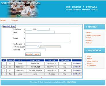 Source Code Website Profil Sekolah Dengan Php Mysql source code aplikasi sistem informasi akademik sekolah