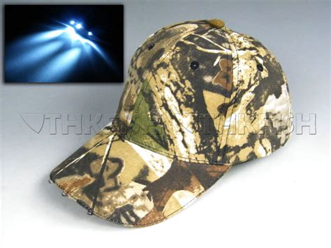 camo lights with battery led light camo fishing hat vintage
